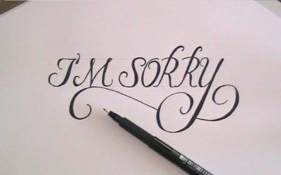 The Art of a Good Apology